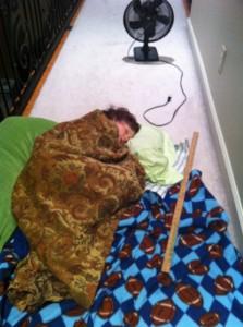 Eli's hallway bed